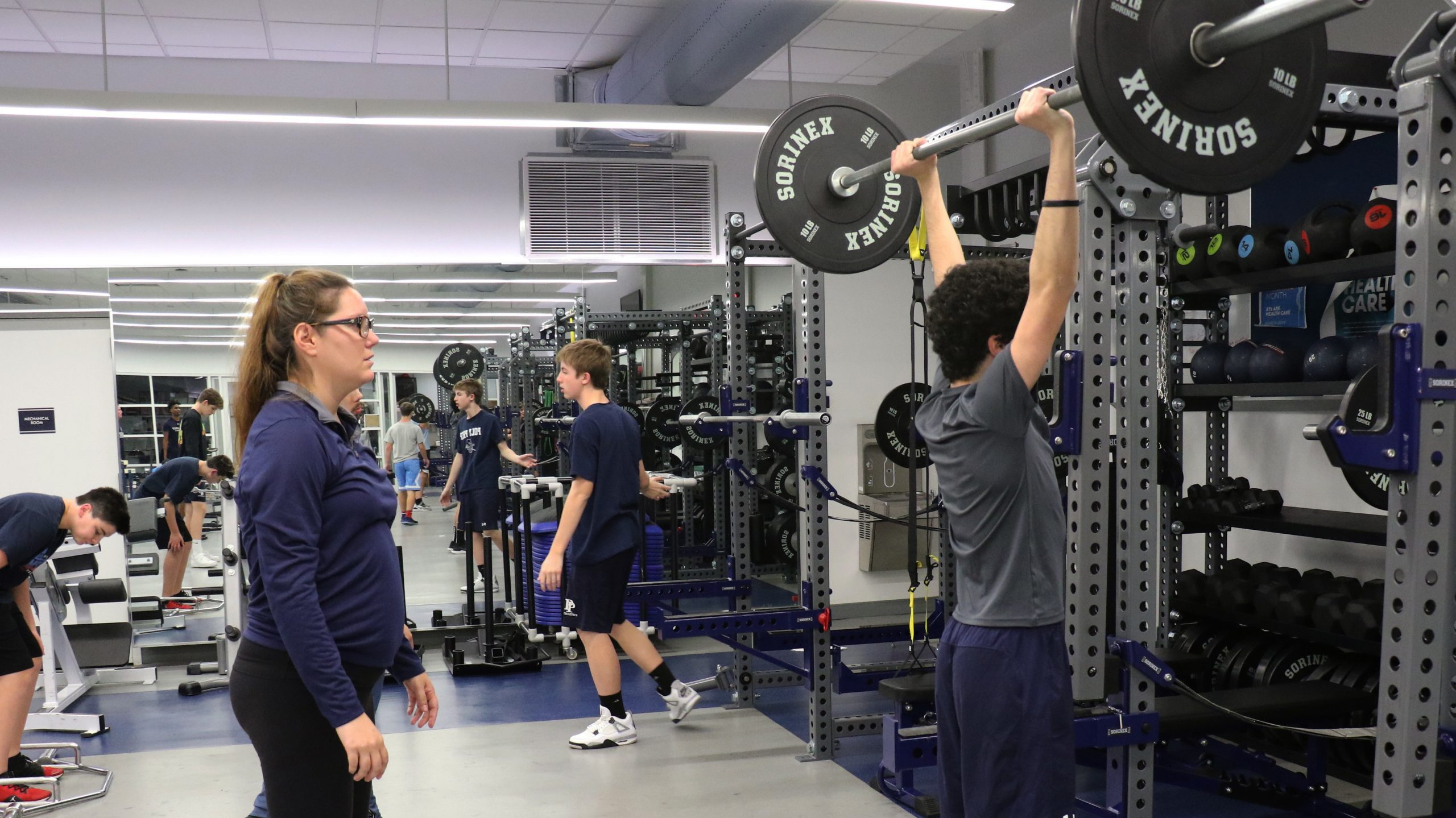 poly summer camper in gym facility strength and conditioning