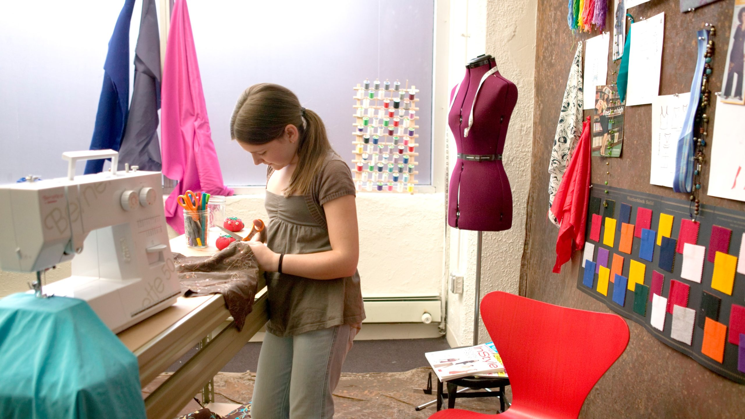 poly summer camp fashion and machine sewing