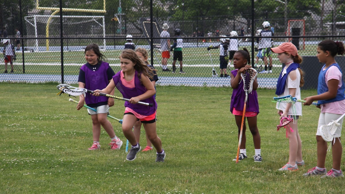 poly summer campers participating in rookie multi sport