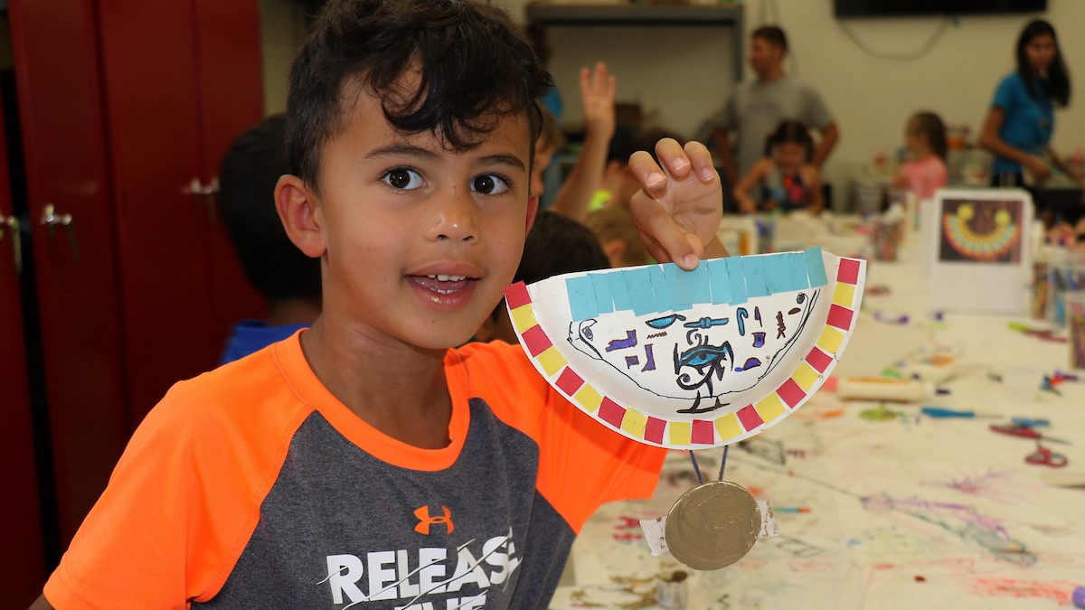 poly summer campers participating in world travelers camp