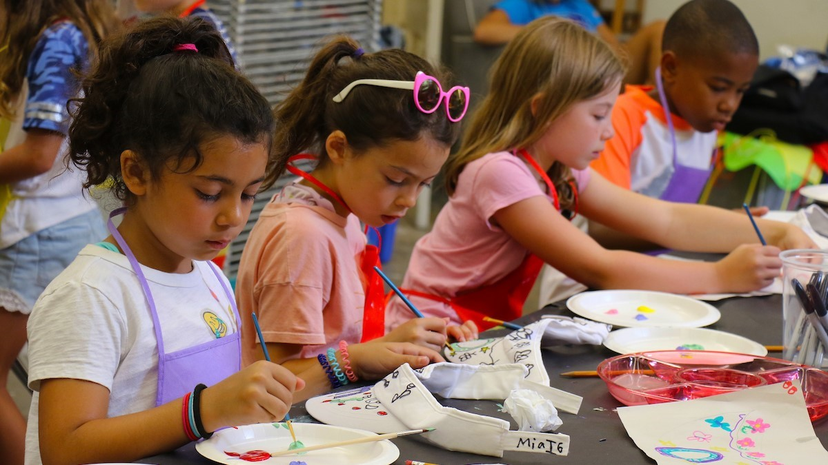 poly summer campers participating in summer experience