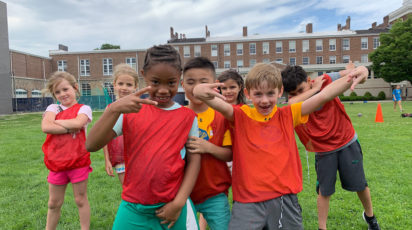 poly summer campers on campus
