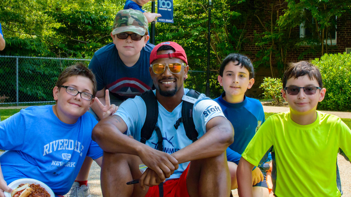 poly summer camp campers and counselor